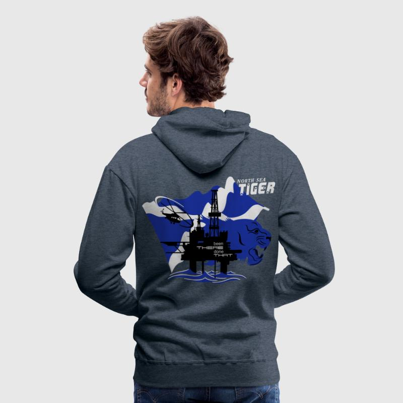 Oil Rig Oil Field North Sea Tiger Aberdeen Hoodies & Sweatshirts - Men's Premium Hoodie