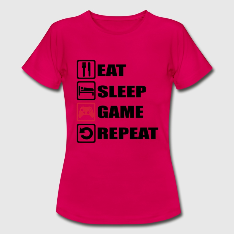 Eat Sleep Game Repeat T Shirt Spreadshirt
