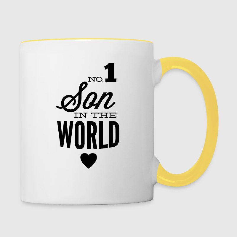 no1 son of the world Mugs & Drinkware - Contrasting Mug