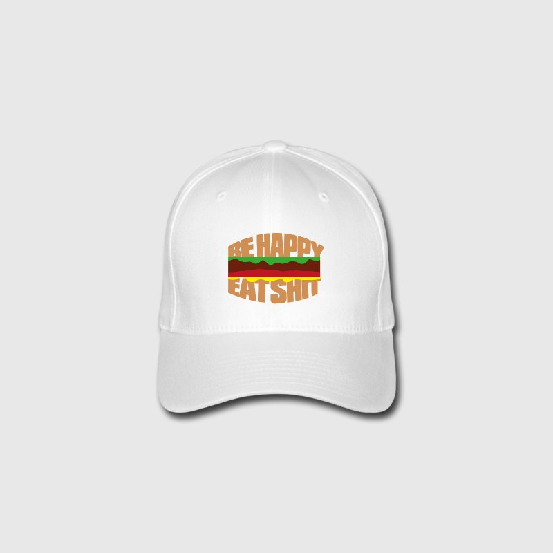 Hamburger be happy eat shit Casquettes et bonnets - Casquette Flexfit