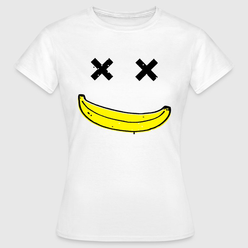 Dead Funny Smiley Banana face T-Shirts - Women's T-Shirt