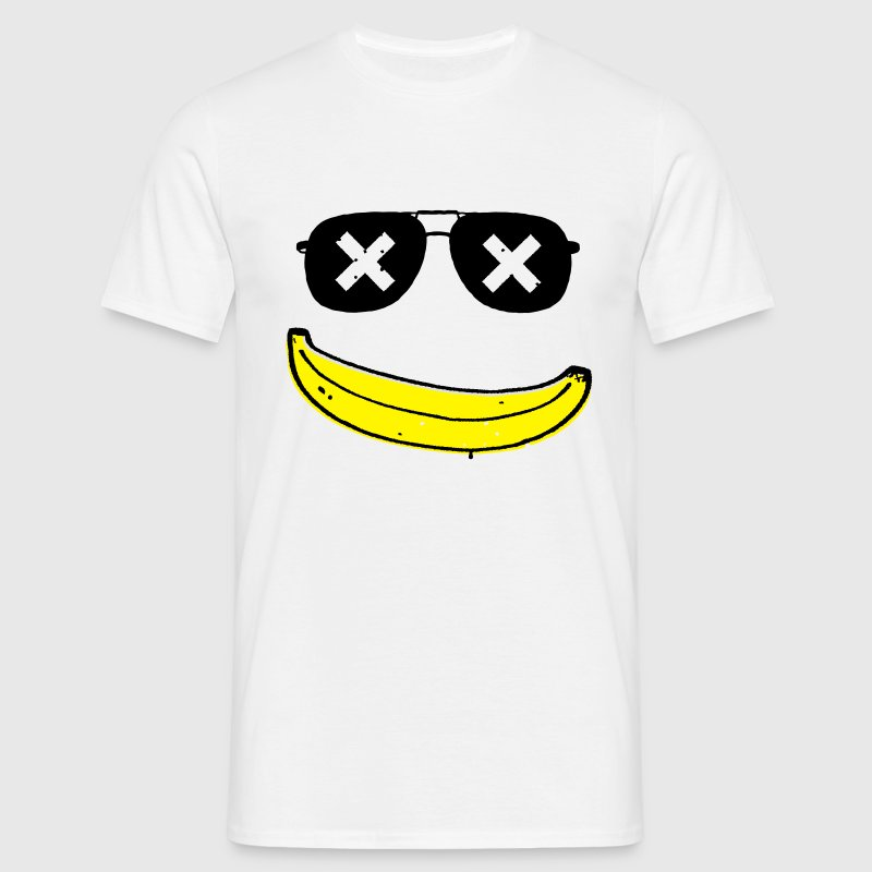 Lustige Grunge Comic Coole Smiley banane graffiti T-Shirts - Männer T-Shirt