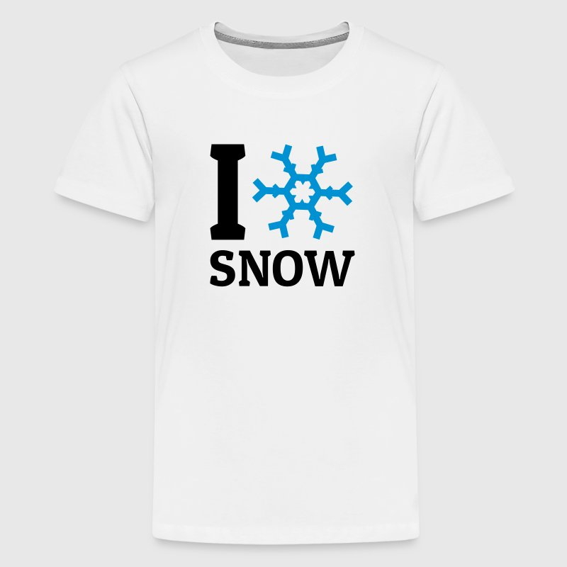 I love Snow Shirts - Teenage Premium T-Shirt