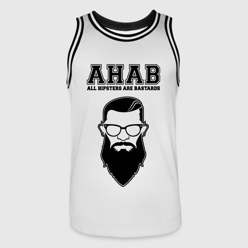 ALL HIPSTERS ARE BASTARDS - Funny Parody  Sports wear - Men's Basketball Jersey