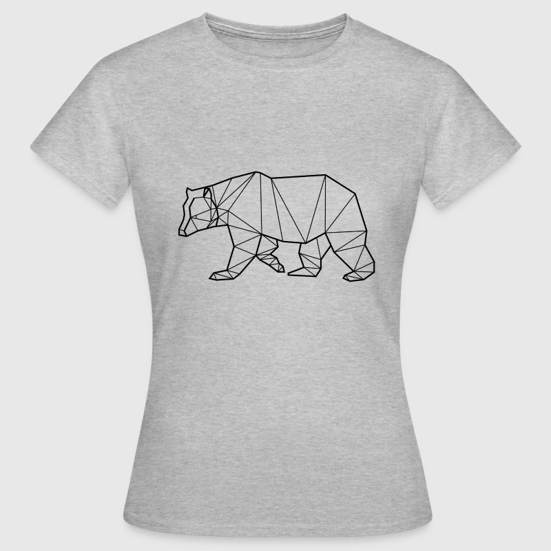 T-Shirt Ours Noir - Animal Prism - Women's T-Shirt