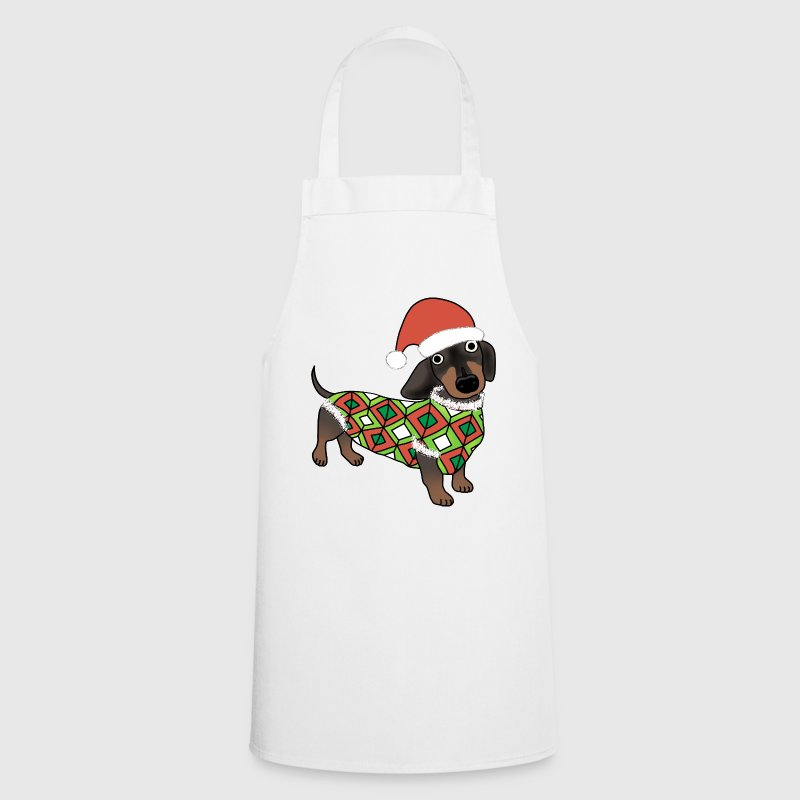 Christmas Daschund apron - Cooking Apron