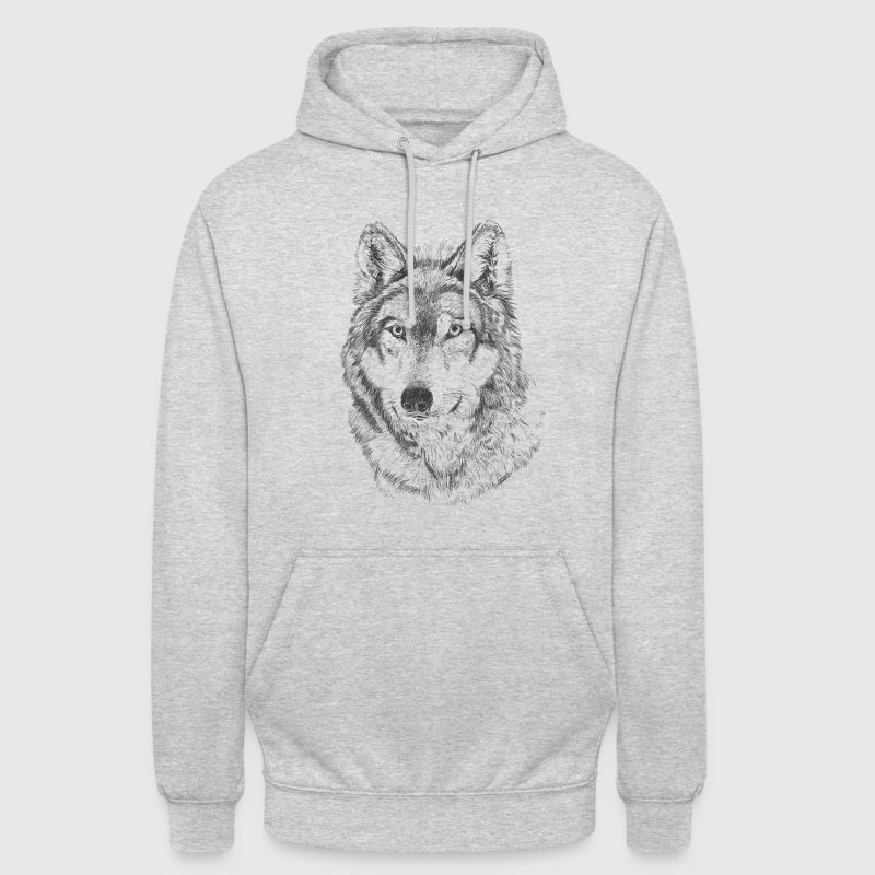Wolf Sweat-shirts - Sweat-shirt à capuche unisexe