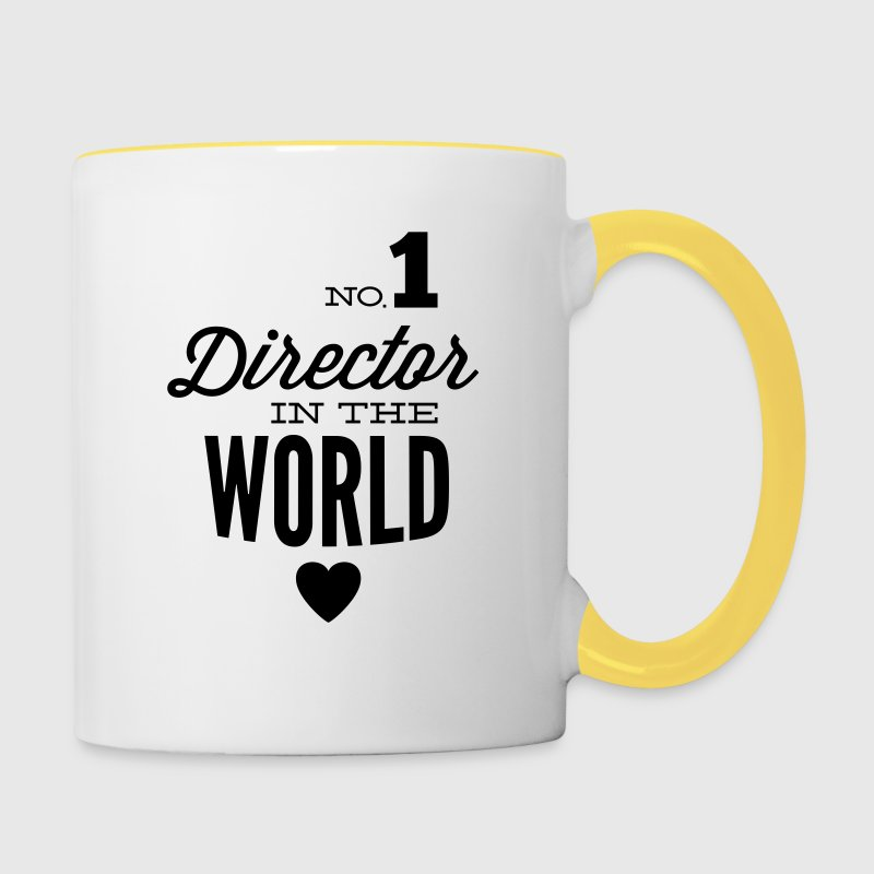Best Director in the world Mugs & Drinkware - Contrasting Mug