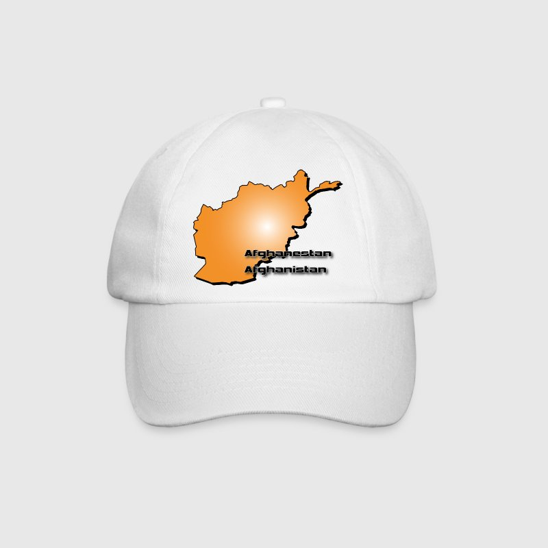 Afghanistan country map in 3D style Caps & Hats - Baseball Cap