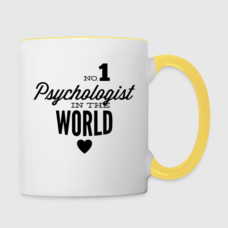 Best psychologist in the world Mugs & Drinkware - Contrasting Mug