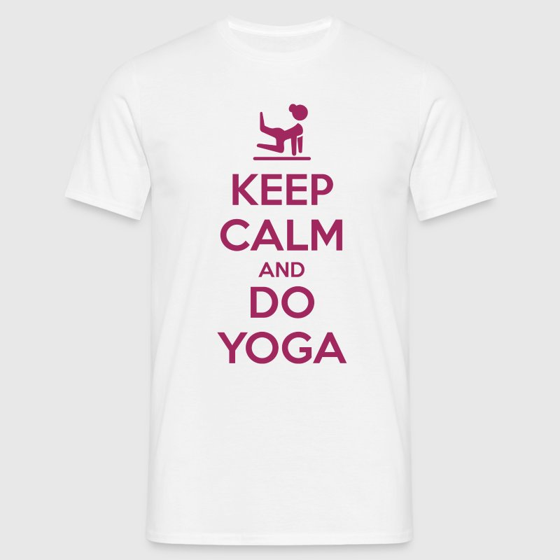Keep Calm and do Yoga Tee shirts - T-shirt Homme