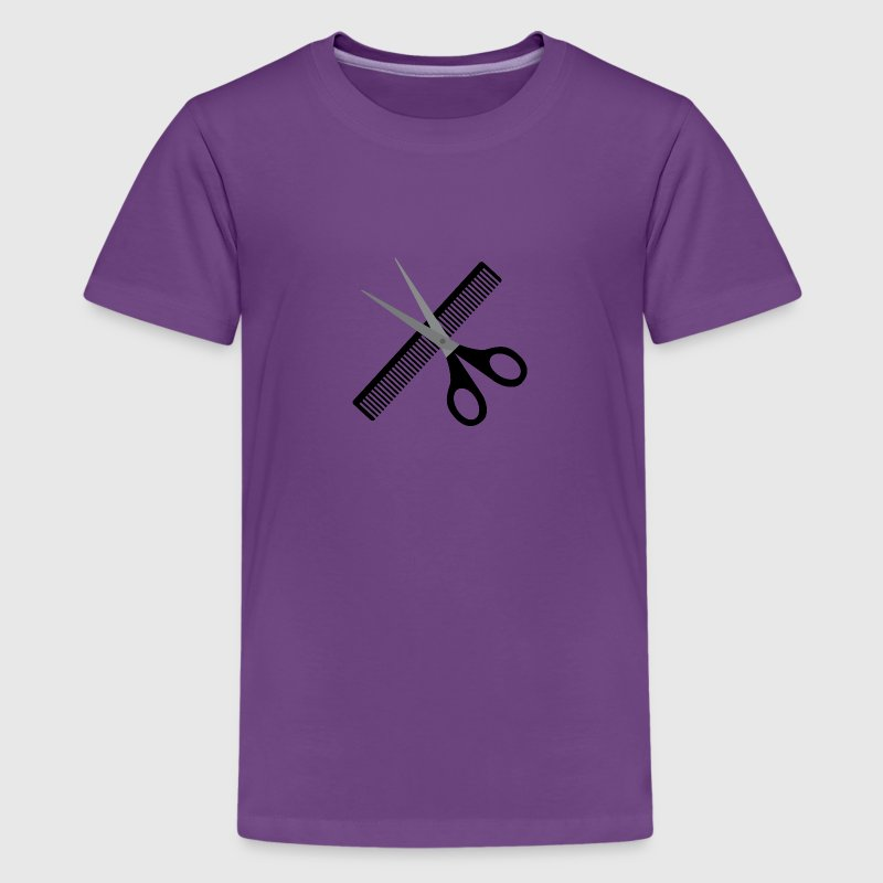 Scissors and comb Shirts - Teenage Premium T-Shirt