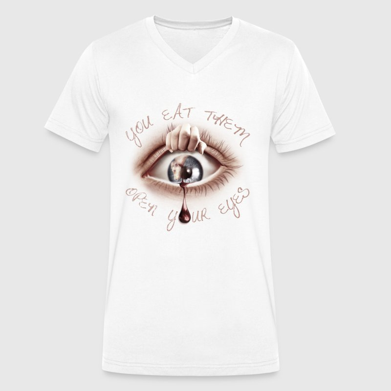 Open your Eyes Tee shirts - T-shirt bio col V Stanley & Stella Homme