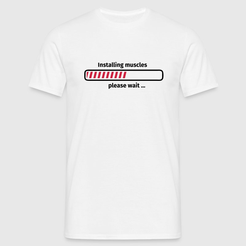 Installing muscles please wait ... T-shirts - Mannen T-shirt