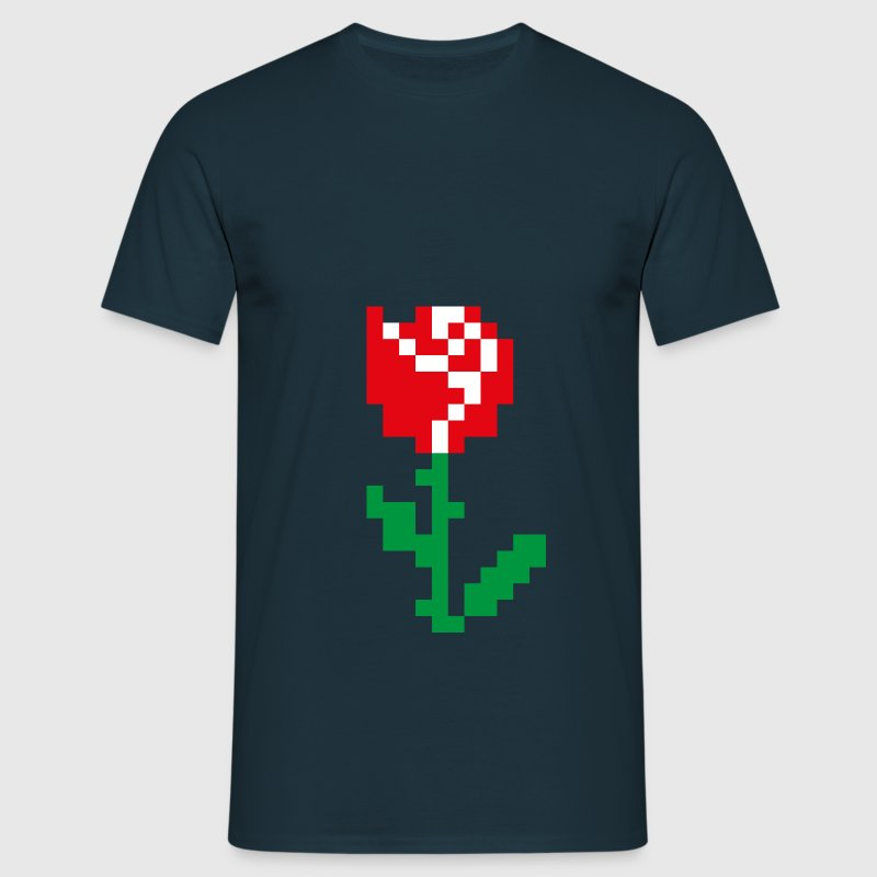Rose Pixel - T-shirt Homme