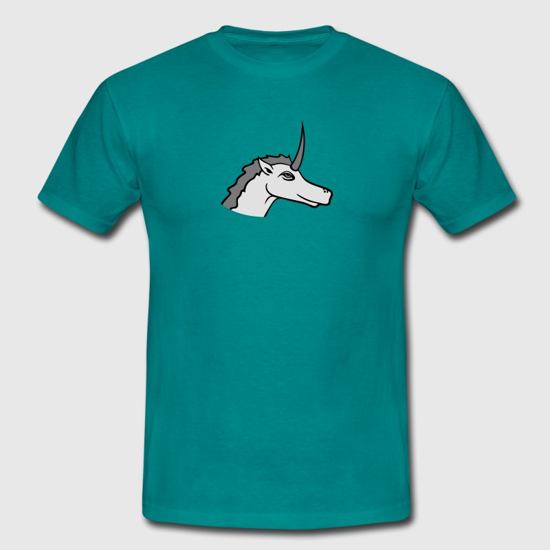 tête visage belle silhouette gracieuse licorne  Tee shirts - T-shirt Homme