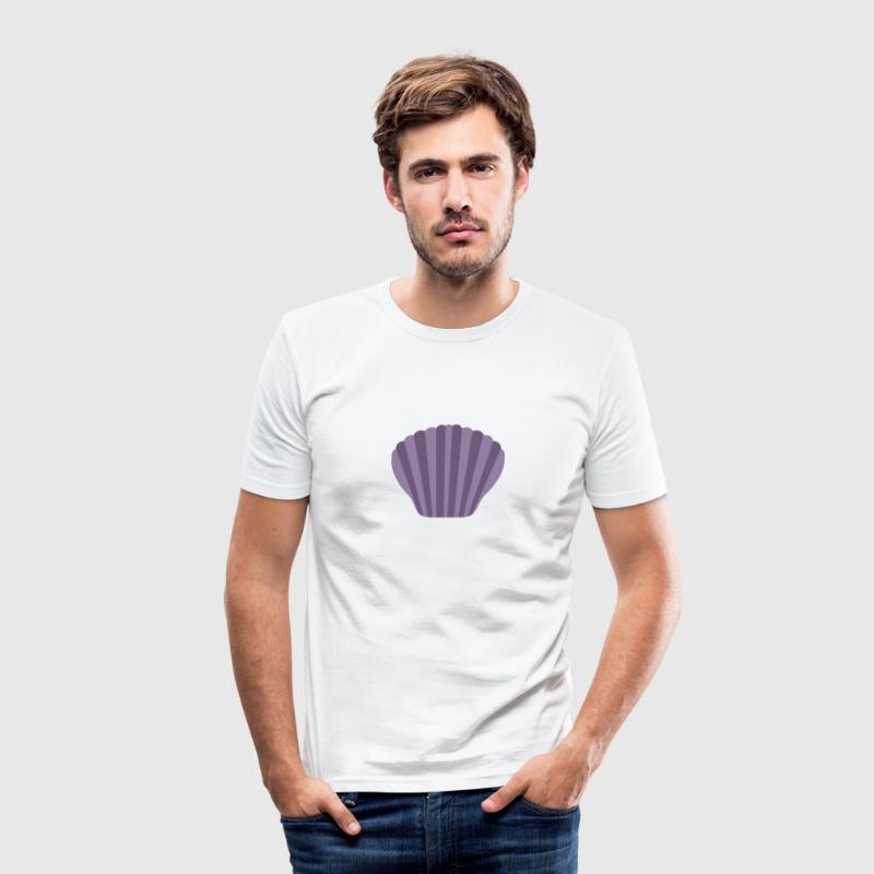 Paars shell T-shirts - slim fit T-shirt