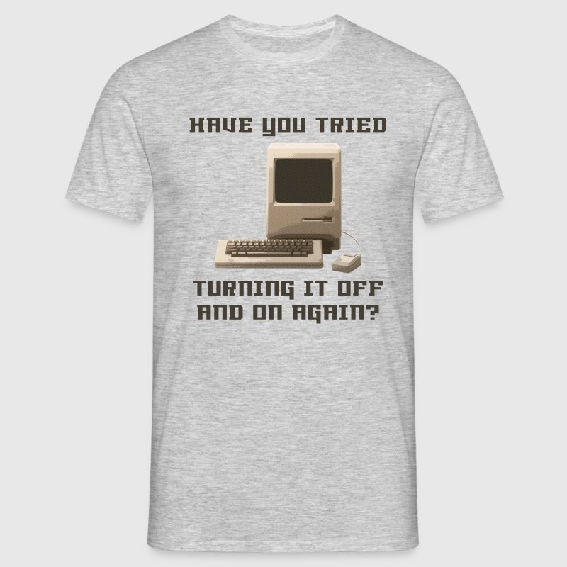 Heather grey Computer off and on again T-Shirts - Men's T-Shirt