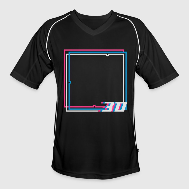3D frame  T-Shirts - Men's Football Jersey