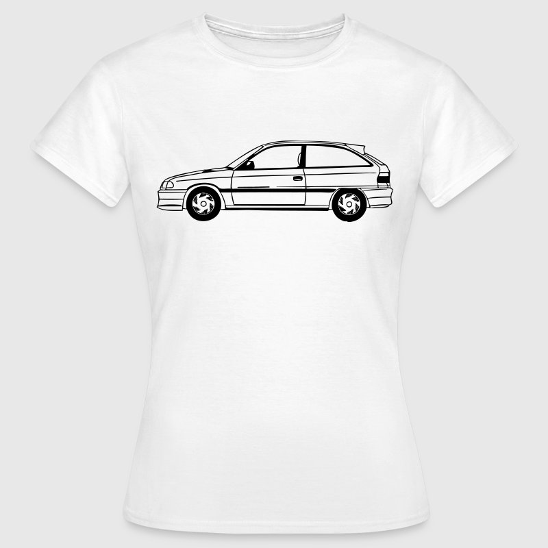 Astra F GSI, Car, 90er, Classic, Youngtimer, Astra - Frauen T-Shirt