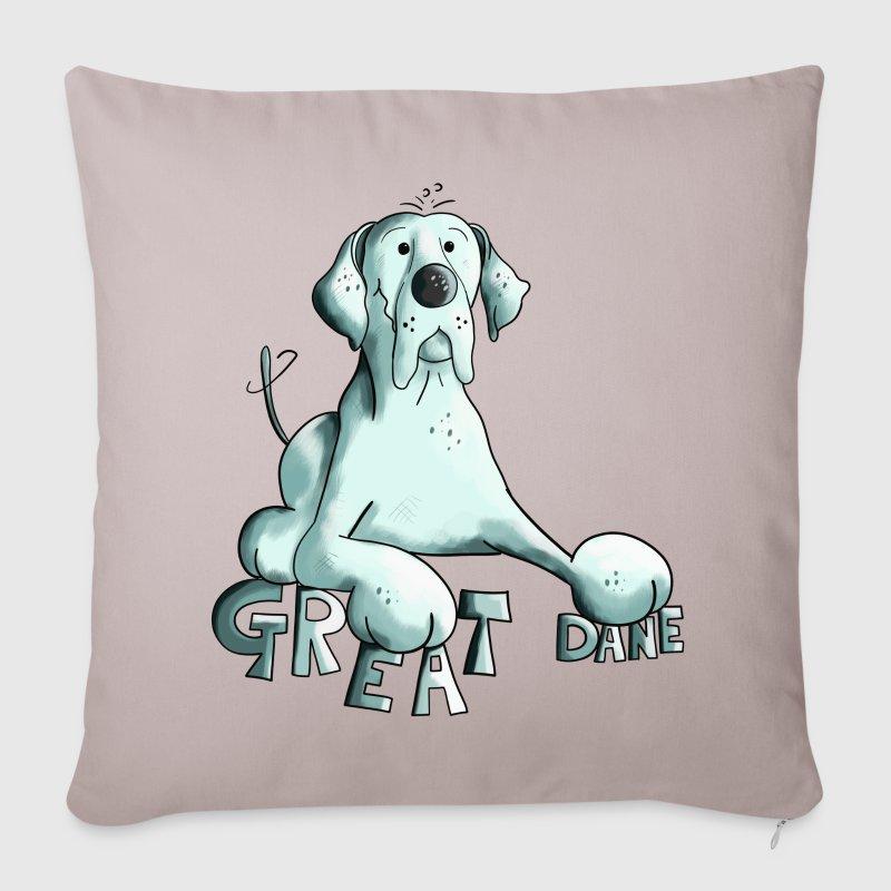 Copricuscino per divano con felice alano spreadshirt - Copricuscino per divano ...