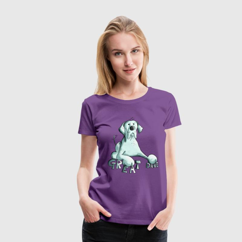 Happy Great Dane Dog T-Shirts - Women's Premium T-Shirt