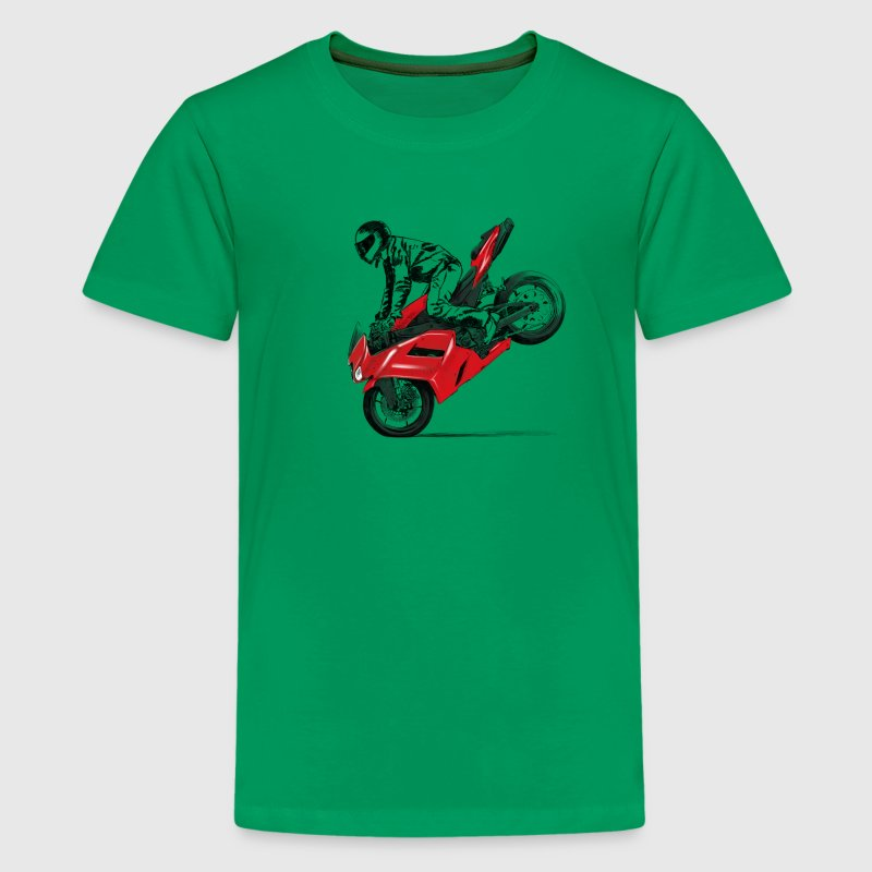 motorcycle stunt Shirts - Teenage Premium T-Shirt