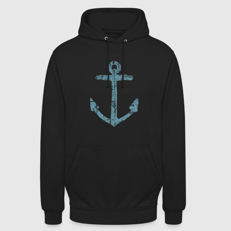 Anchor Vintage (Blue) Sailing Design for Sailors Hoodies & Sweatshirts - Unisex Hoodie