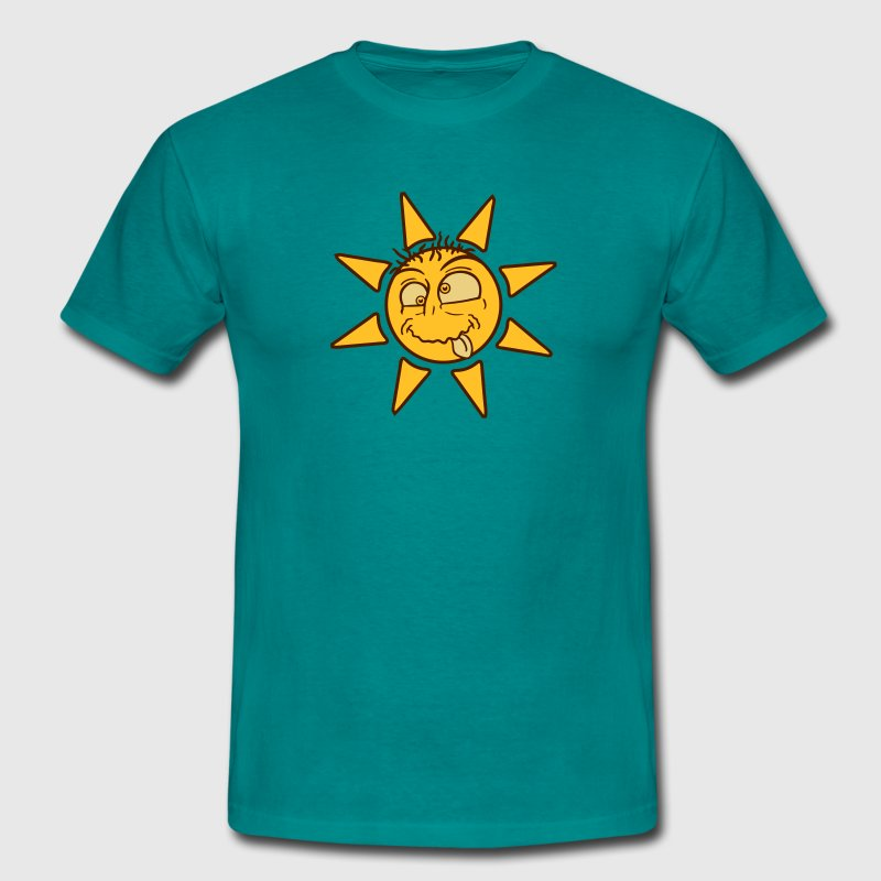 crazy crazy silly stupid sun comic cartoon funny h T-Shirts - Men's T-Shirt