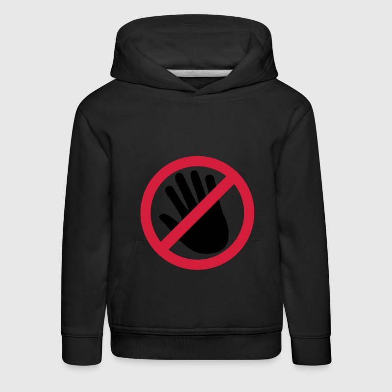 Do not touch the hand Hoodies - Kids' Premium Hoodie