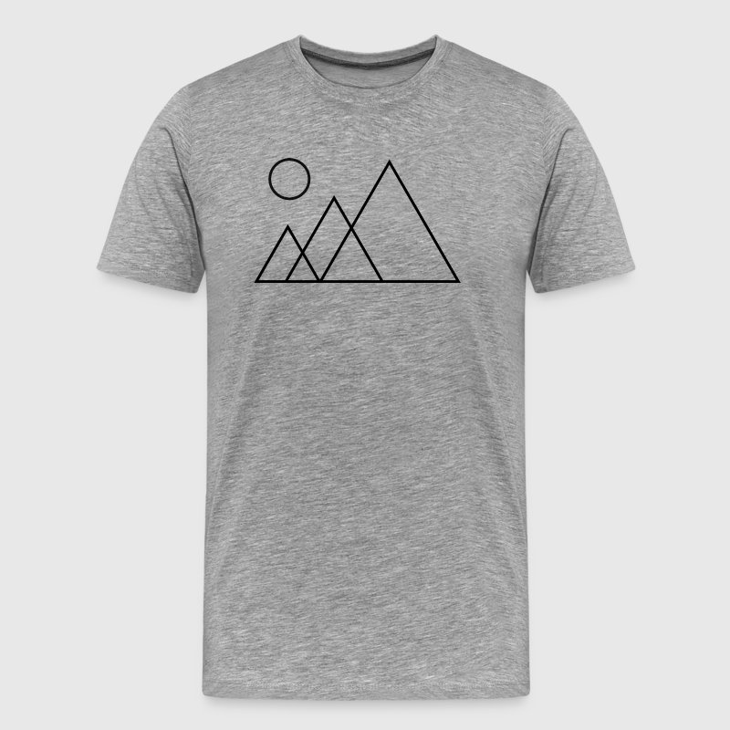 Geometric Mountain Tee - Men's Premium T-Shirt