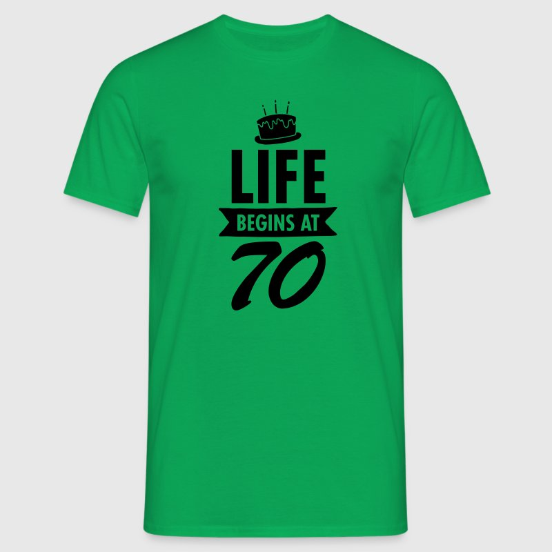 Life Begins At 70 T-Shirts - Men's T-Shirt