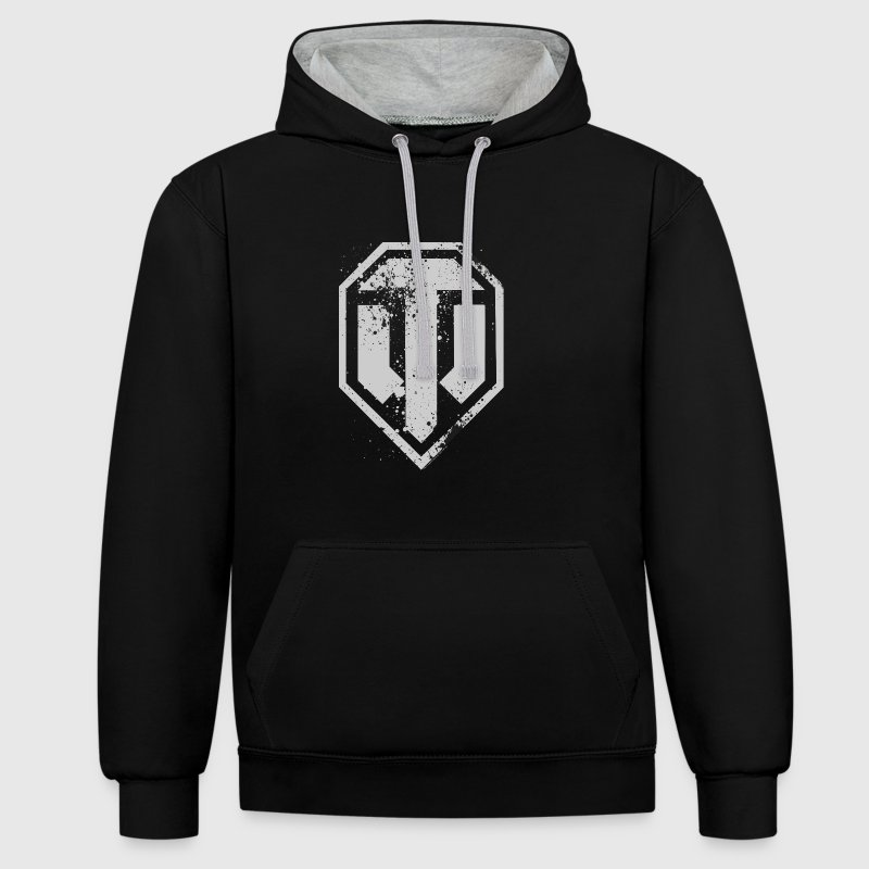 World of Tanks Used Logo Men Hoodie - Bluza z kapturem z kontrastowymi elementami