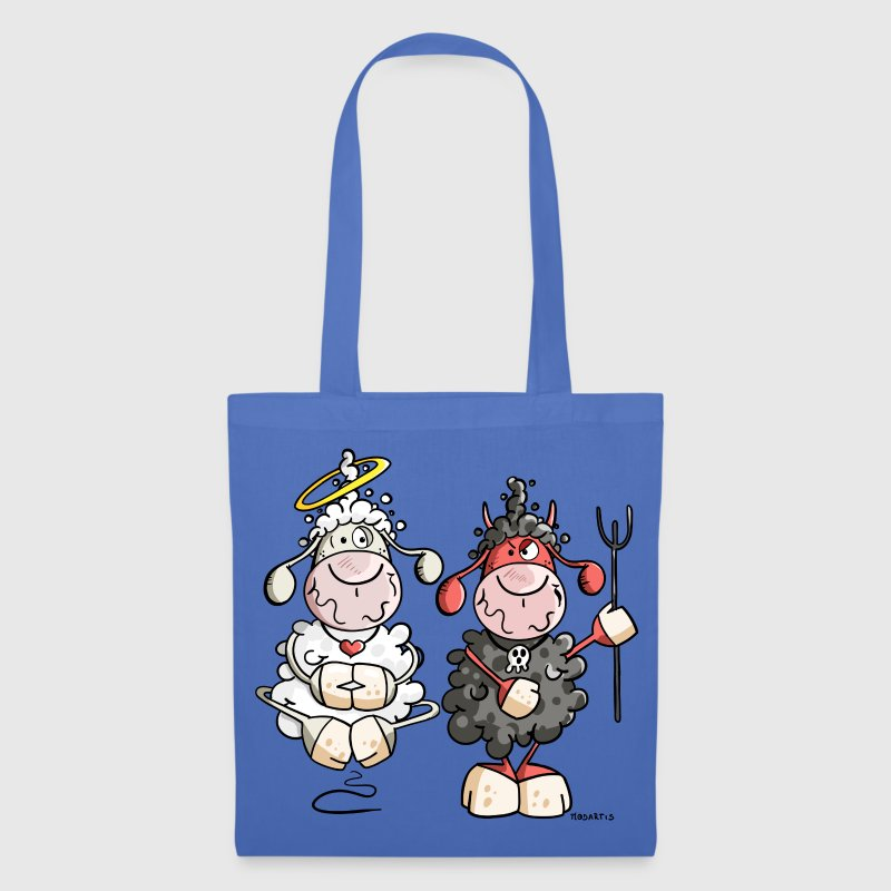 Devil vs Angel Sheep Bags & Backpacks - Tote Bag