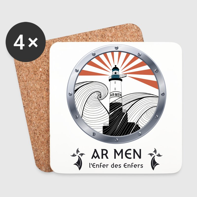 AR MEN - PHARE - BRETAGNE - Dessous de verre (lot de 4)