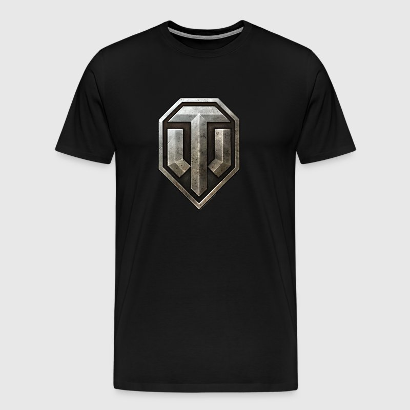 World of Tanks Metal Logo Men T-Shirt - Mannen Premium T-shirt