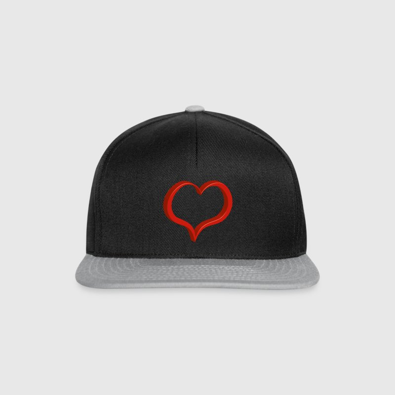 red heart Caps & Hats - Snapback Cap