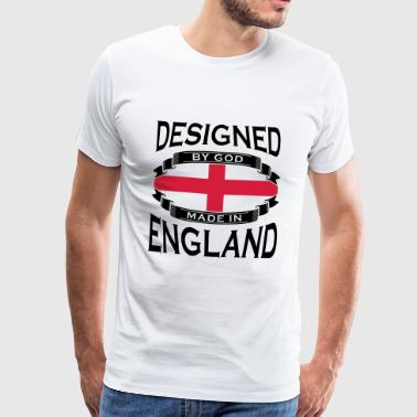 Designed by God - Made in England T-Shirts - Men's Premium T-Shirt