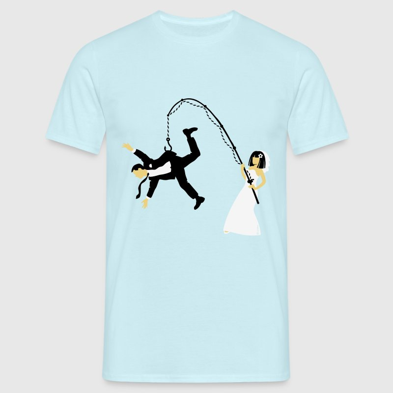 Bride Fishing A Husband (Stag Hen Party / PNG) - Men's T-Shirt