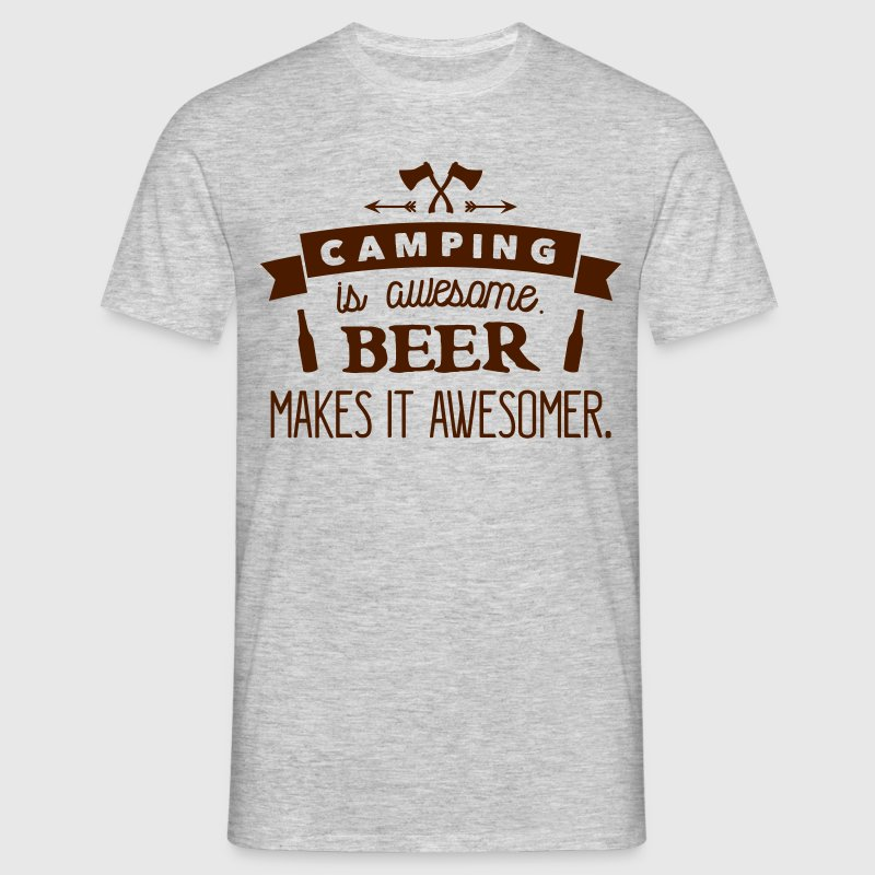 camping is awesome beer makes it awesomer T-Shirts - Men's T-Shirt