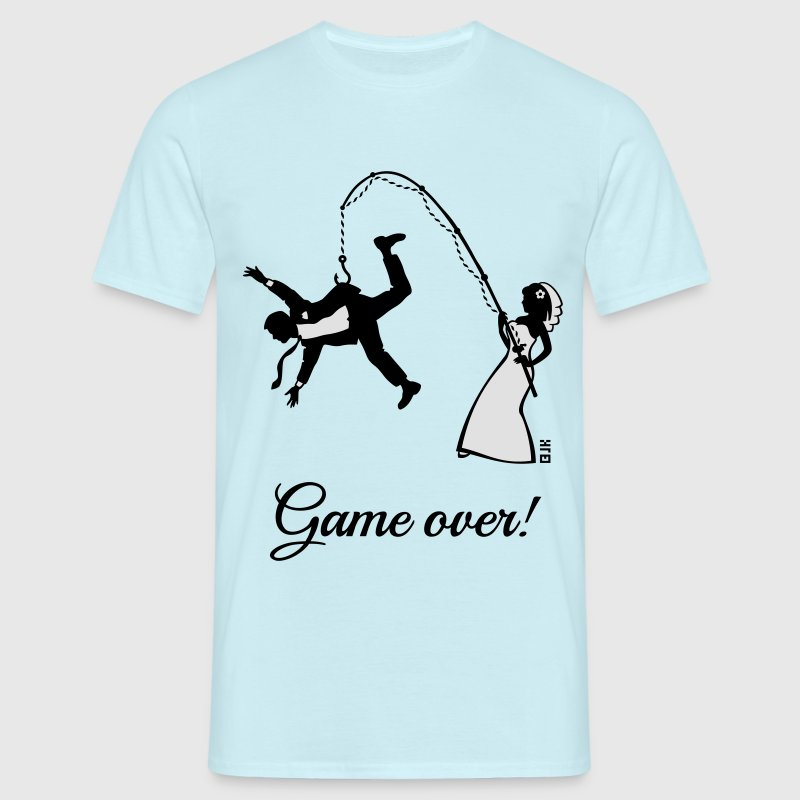 Game over bride fishing husband t shirt spreadshirt for T shirt design game
