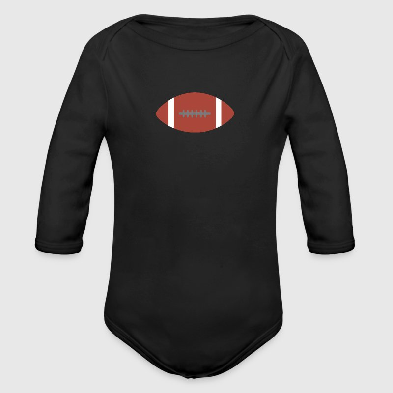 American Football Baby Bodys - Baby Bio-Langarm-Body
