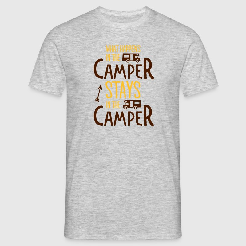 what happens in the camper... T-Shirts - Men's T-Shirt