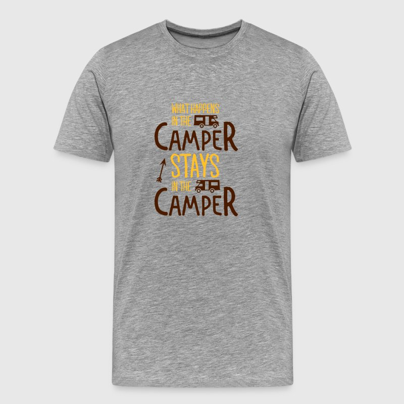 what happens in the camper... T-shirts - Premium-T-shirt herr