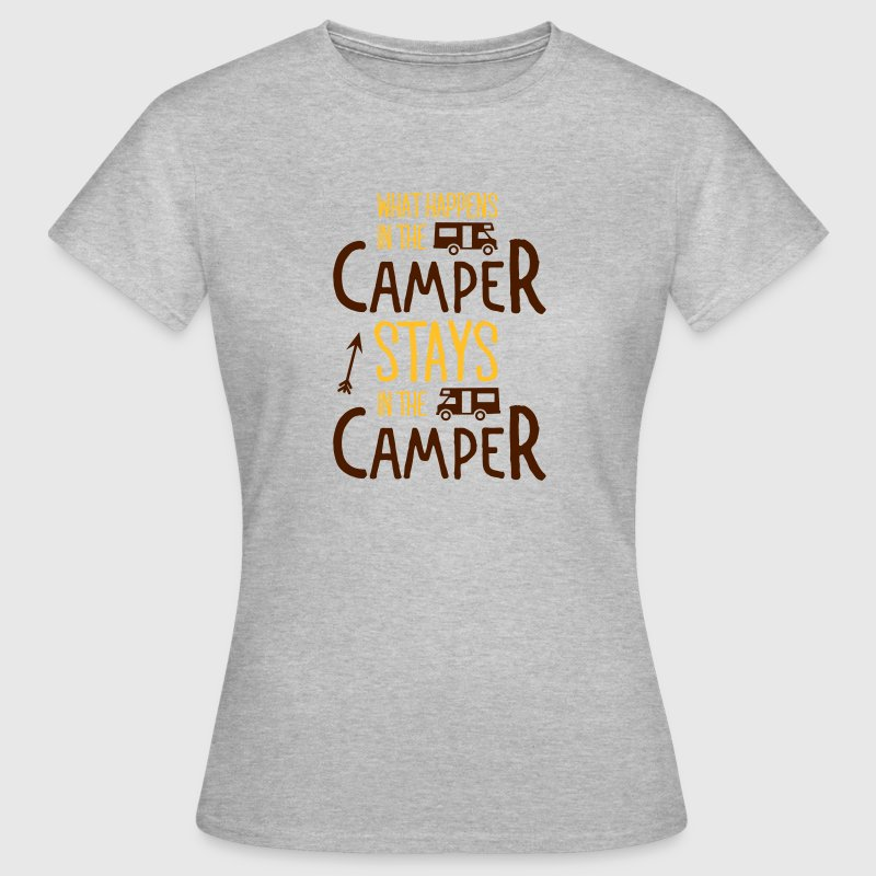 what happens in the camper... Tee shirts - T-shirt Femme