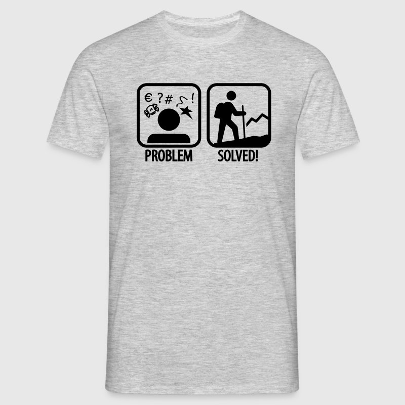hiking: problem solved T-Shirts - Men's T-Shirt