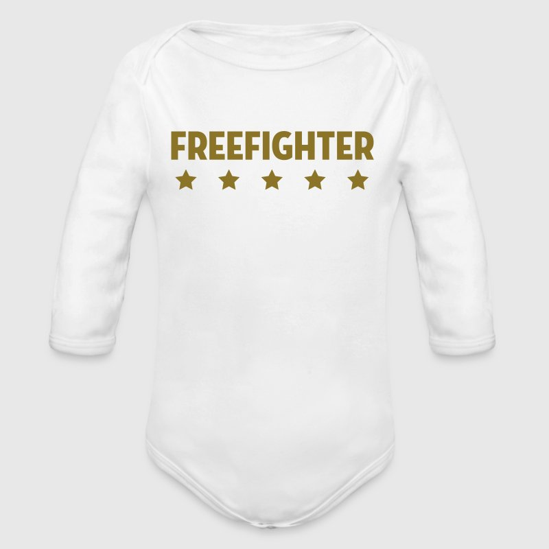 Freikampf Freefighter Free Fight MMA Kampf Fighter Baby Bodys - Baby Bio-Langarm-Body