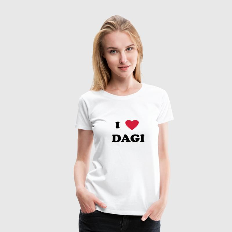 I Love Dagi - Women's Premium T-Shirt