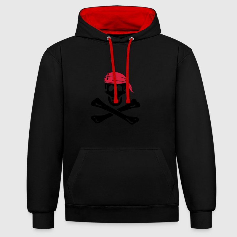 jolly roger pirate Sweat-shirts - Sweat-shirt contraste
