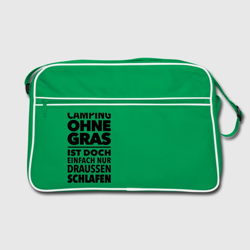 Camping Gras kiffen Marihuana Dope Cannabis Joint - Retro Tasche